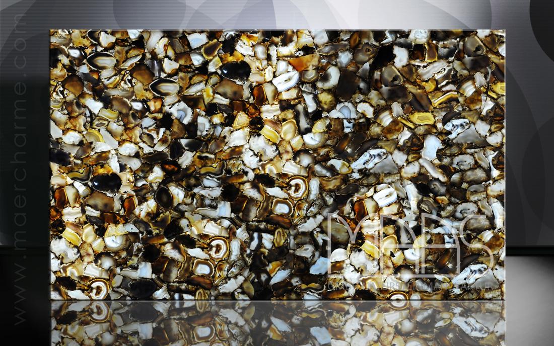 Ruban Achat mit Gold hinterleuchtet Fensterbänke Preise